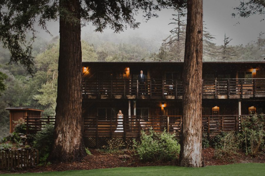 Woodsy Big Sur River Inn Wedding