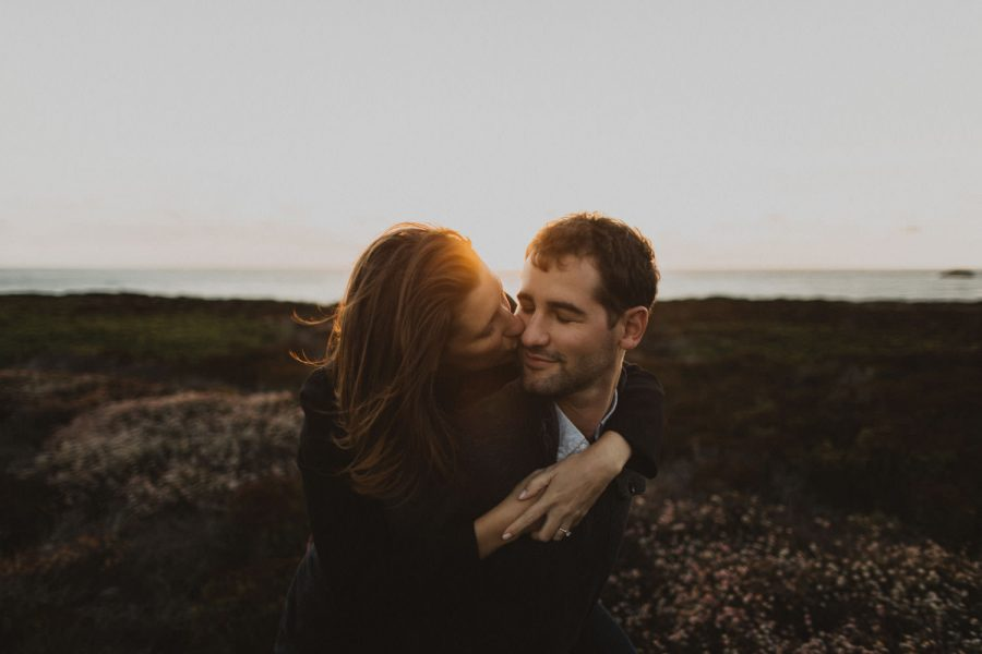 Engagement on the Big Sur coast