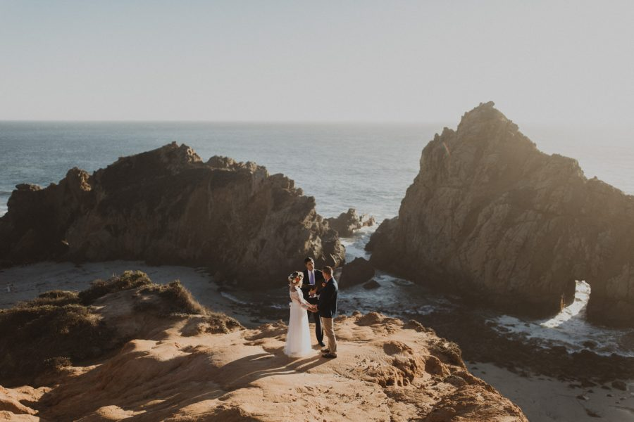 Pfeiffer Beach Mountaintop Elopement