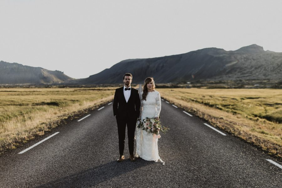 Iceland Elopement at the Black Church in Búðir