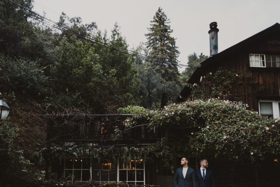 Rainy Big Sur Wedding at Deetjens Inn