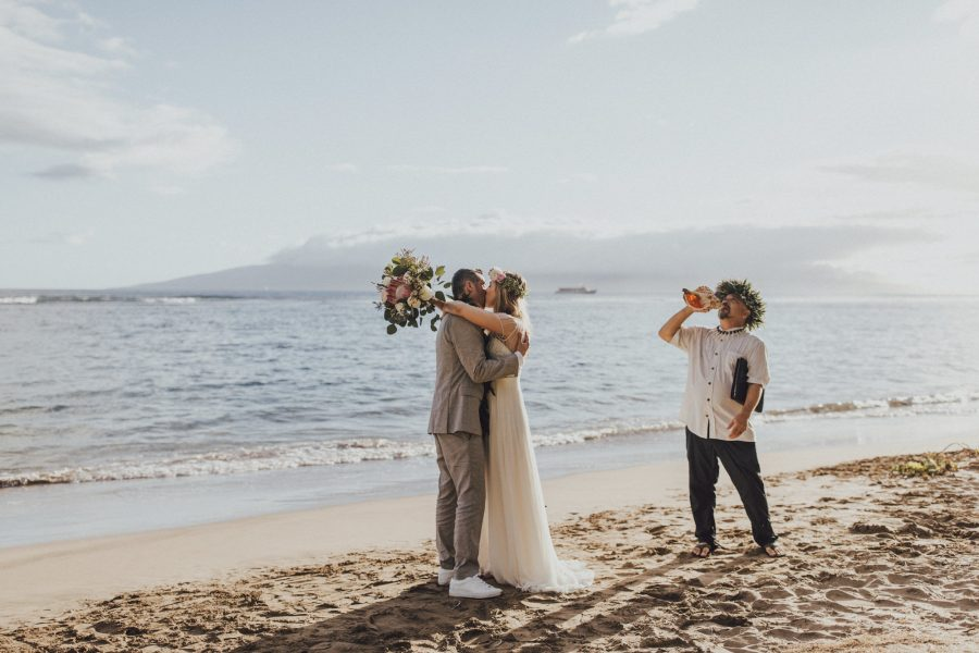 Maui Elopement at Baby Beach