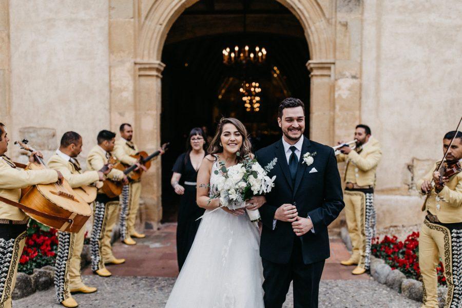 Winter Carmel Mission & Clement Monterey Wedding