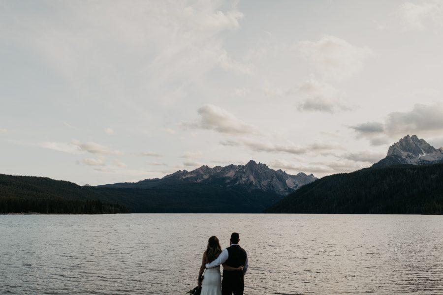 Sawtooth Mountains Elopement at Redfish Lake