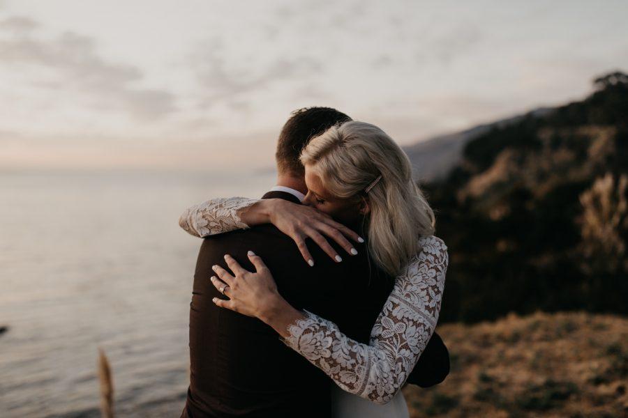 Wind and Sea Wedding on the Big Sur Coast